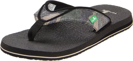 Sanuk Mens Beer Cozy Flip Flop in Green for Men (camaflauge) - Lyst