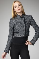 Theory Cropped Tweed Jacket - Lyst