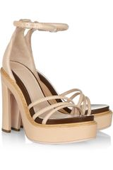Givenchy Leather Platform Sandals - Lyst