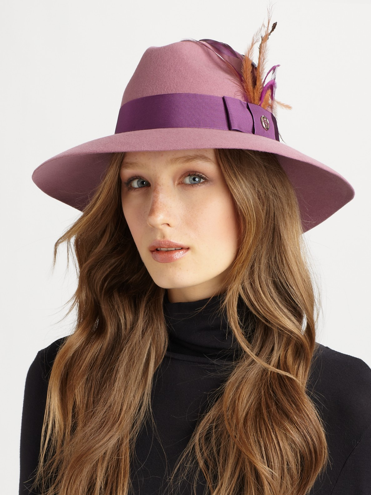 1c4b58f1e12 Lyst - Gucci Trilby Hat in Purple