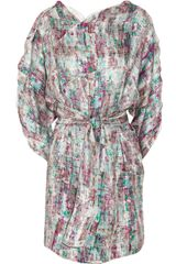 M Missoni Printed Silk Dress - Lyst