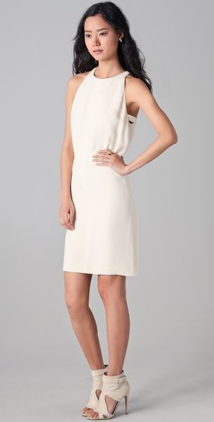 Nellie Partow Ava Dress in White (crema) - Lyst