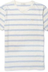 Oliver Spencer Striped Cotton Jersey T-shirt - Lyst