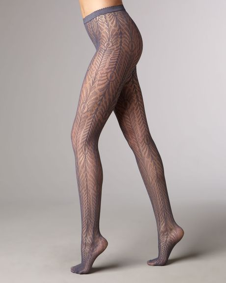 Wolford Peacock Net Tights in Blue (peacock) - Lyst