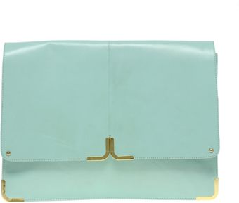 ASOS Collection Leather Portfolio Clutch with Metal Tip - Lyst