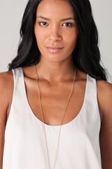 Belle Noel Wishbone Necklace in Gold - Lyst