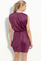 Black Halo Jill Jersey Minidress in Purple (thistle) - Lyst