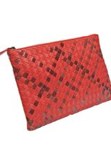 Bottega Veneta Ayers Zip Top Pouch in Animal (snake) - Lyst