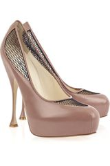Brian Atwood Dante Leather Platform Pumps - Lyst