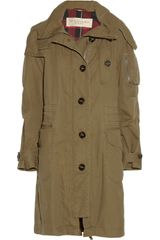 Burberry Brit Oversized Hooded Cotton-gabardine Parka - Lyst