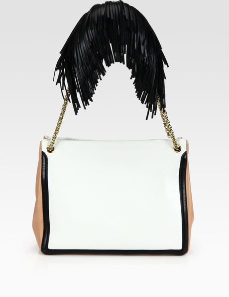 Christian Louboutin Artemis Fringe Shoulder Bag in Beige (nude) - Lyst