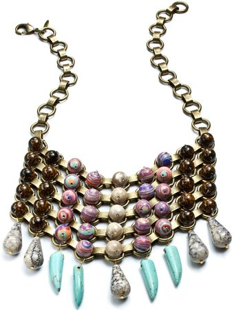 Dannijo Iris Bib Necklace - Lyst