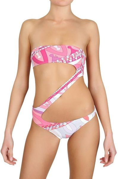 Emilio Pucci Printed Lycra Bathing Suit in Multicolor (multi) - Lyst
