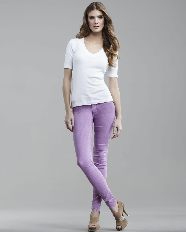 Lyst - Hudson Jeans Nico Lavender Super Skinny Jeans In Purple-5507
