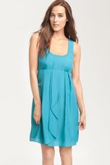 Jessica Simpson Pleated Crêpe De Chine Dress - Lyst