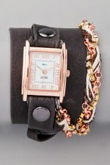 La Mer Collections Turkish Crystal Chain Wrap Watch - Lyst