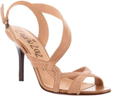Lanvin Leather Sandal in Brown (nude) - Lyst