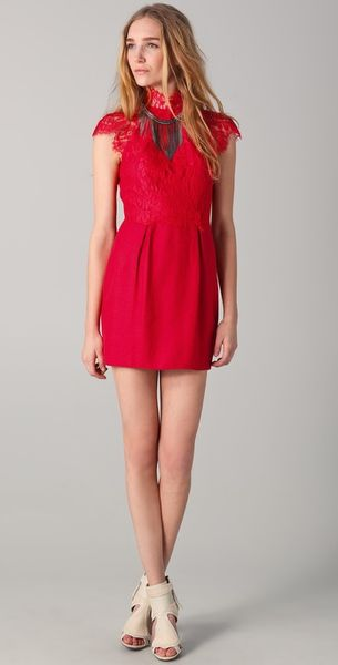 Lover Serpent Mini Dress in Red (scarlet) - Lyst
