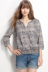 Lucky Brand Anne Jr. Print Top - Lyst