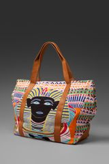Mara Hoffman Printed Beach Bag - Lyst