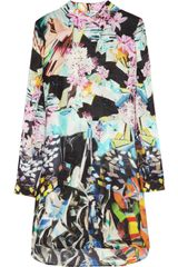 Mary Katrantzou Printed Silk-georgette Dress - Lyst