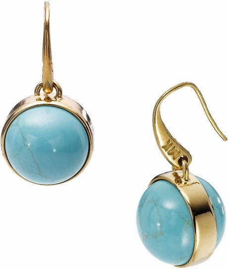 Michael By Michael Kors  Sleek Exotics Drop Earrings in Blue (turquoise) - Lyst