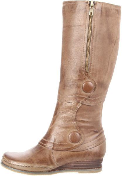 miz mooz womens portia knee high boot in khaki lyst