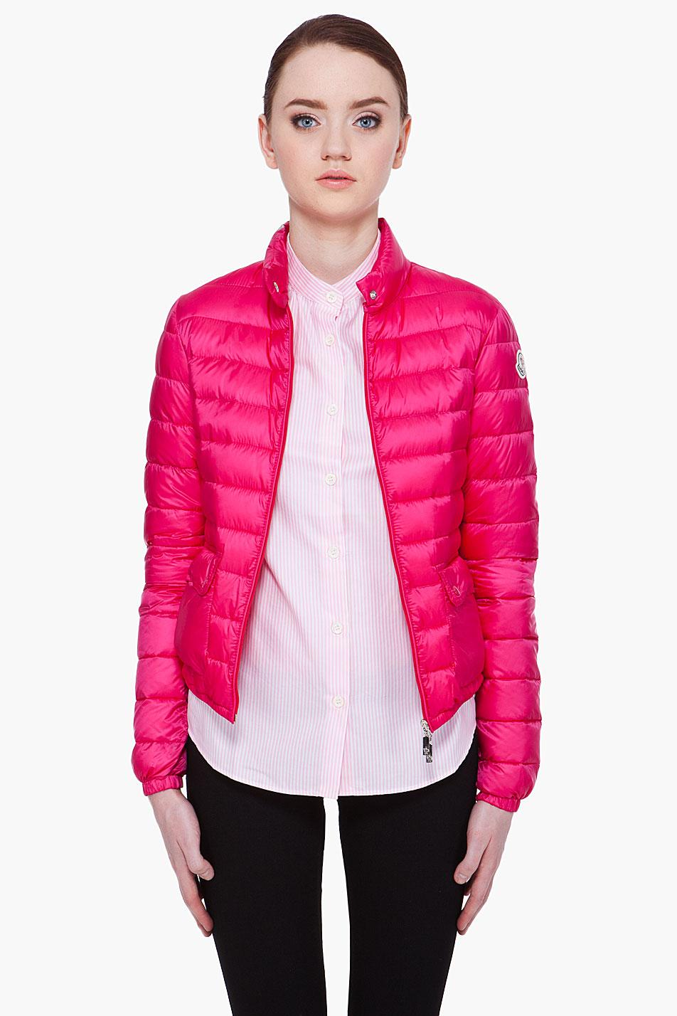 moncler pink jacket