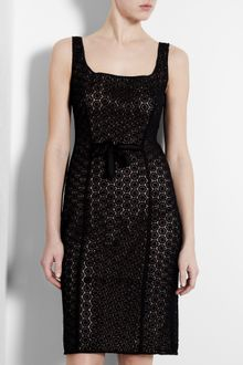 Moschino Cheap & Chic Black Macramé Pencil Dress - Lyst