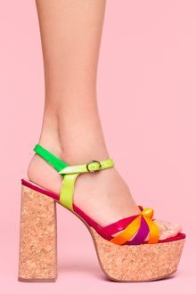 Nasty Gal Happy Cork Platform - Lyst