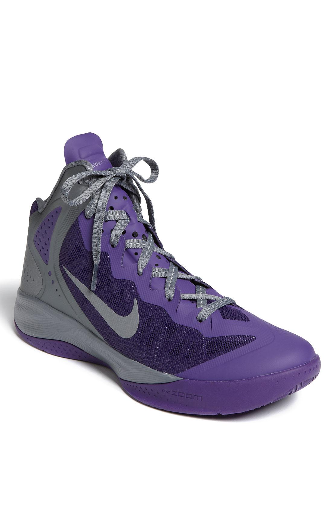 nike zoom hyper enforcer pe basketball shoe in purple for