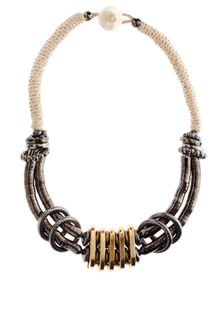 Asos Cupchain And Cord Statement Necklace - Lyst