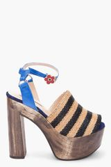 Opening Ceremony Jungle 5 Rafia Stripe Sandal - Lyst
