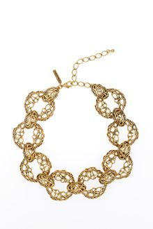 Oscar de la Renta Links and Circle Necklace - Lyst