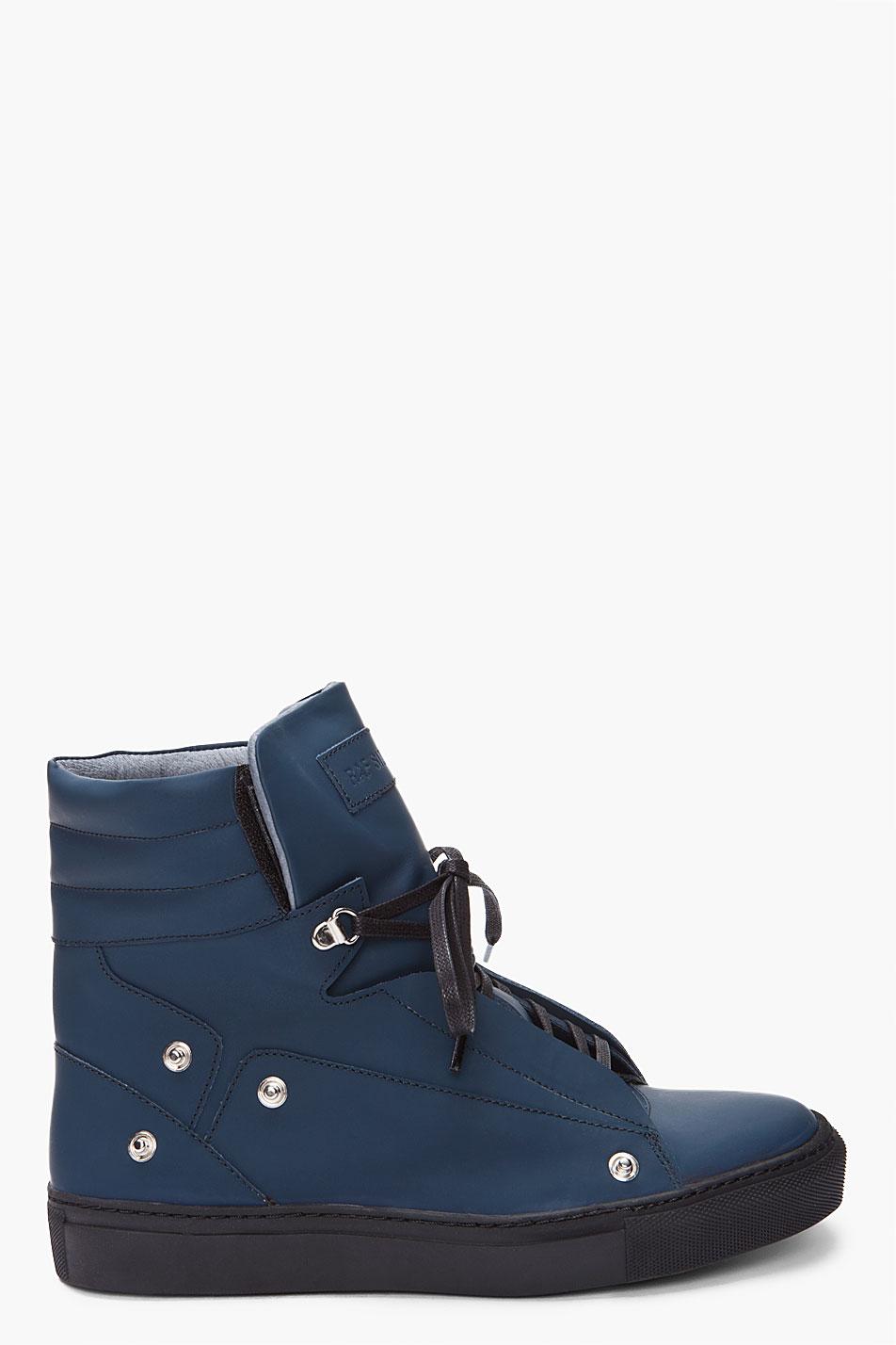 raf simons high top sneaker in blue for men lyst. Black Bedroom Furniture Sets. Home Design Ideas