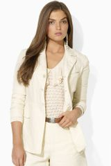 Ralph Lauren Blue Label Harrison Linen Jacket - Lyst