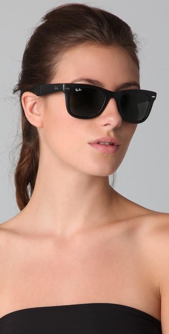 75fc2b6560 ... discount code for lyst ray ban folding wayfarer sunglasses in black  43171 8b31e