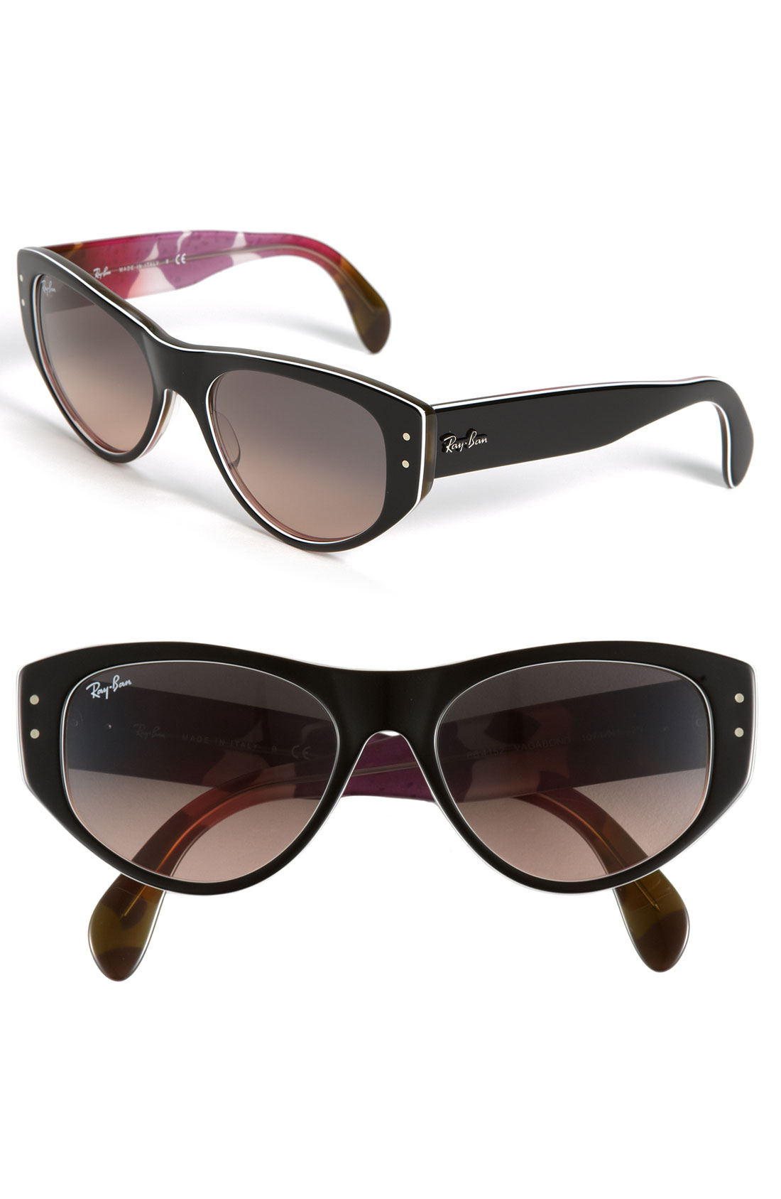 ray ban vagabond cats eye sunglasses in black tortoise. Black Bedroom Furniture Sets. Home Design Ideas