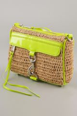 Rebecca Minkoff Straw with Neon Mini Mac Clutch in Yellow - Lyst