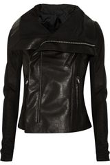 Rick Owens Contrast-leather Biker Jacket - Lyst
