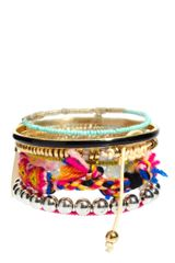 River Island Mixed Tribal Bracelets in Multicolor (multi) - Lyst