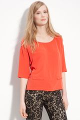 Robert Rodriguez Retro Boxy Silk Top - Lyst