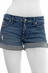 7 For All Mankind The Denim Roll-Up Shorts - Lyst