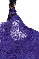 Stella Mccartney Clemence Baking Underwired Stretchlace Bra in Purple - Lyst