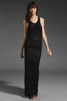 T By Alexander Wang Rib Long Tank Dress - Lyst