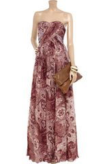 Tibi Swirl Paisley Printed Silkchiffon Maxi Dress in Red (black) - Lyst
