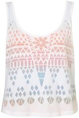 Topshop Double Layer Geo Burnout Vest - Lyst