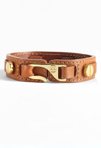Tory Burch Hook Leather Wrap Bracelet - Lyst