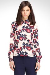 Tory Burch Angelique Jacquard Blouse - Lyst