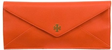 Tory Burch Robinson E/w Envelope Clutch in Red - Lyst